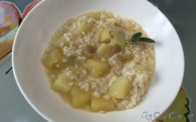 Minestra di riso e patate con Cuisine Companion