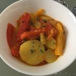 Patate e peperoni con curry e timo fresco