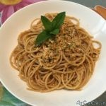 Spaghetti integrali al pesto svuotafrigo