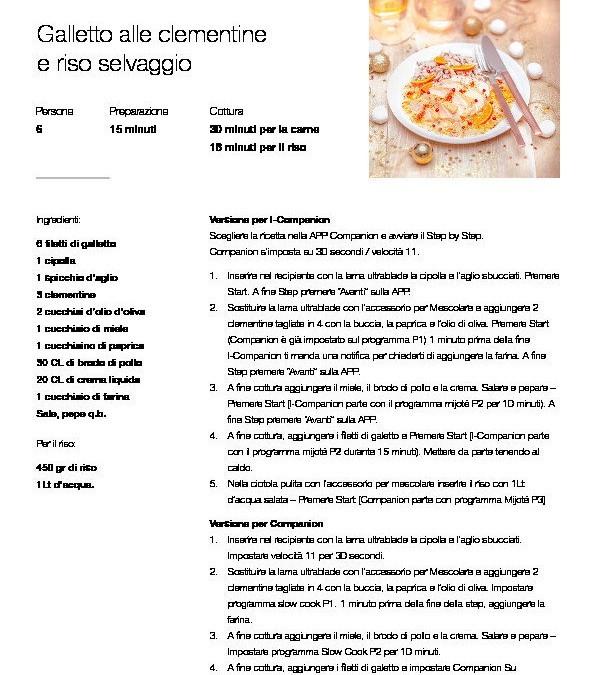 Nuovo mini ricettariorio per Cuisine e i-Companion Moulinex