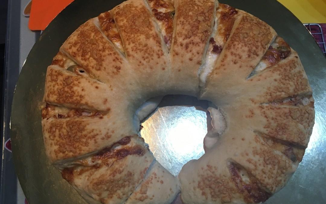 Corona di pane farcito con Cuisine e i-Companion Moulinex