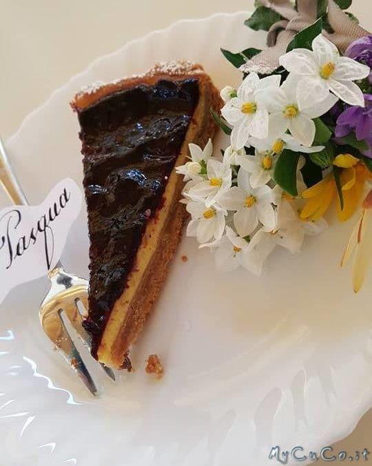 Cheesecake ai mirtilli con cottura (ovvero Torta della zia Anna) by Amalia