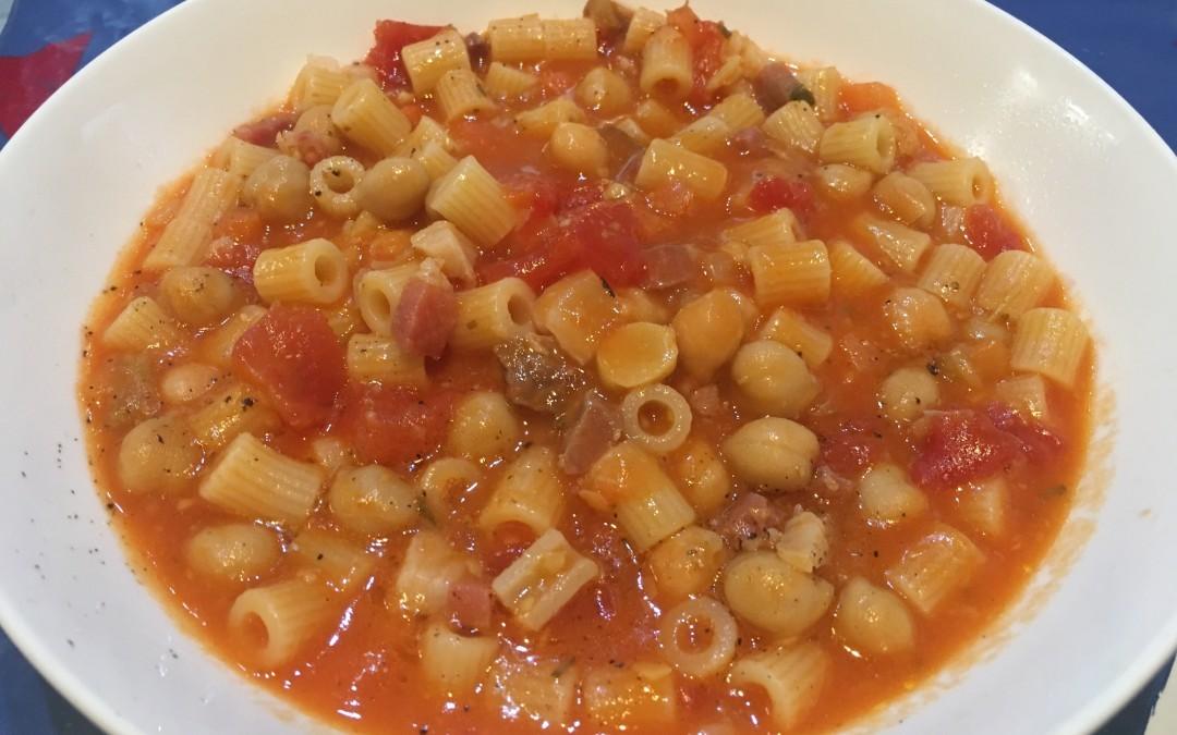 La minestra di pasta e ceci con Cuisine e i-Companion Moulinex