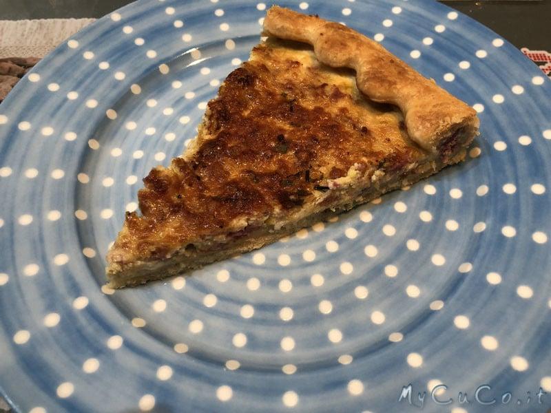 Torta rustica salsiccia, porri e ricotta col cuco - mycuco.it