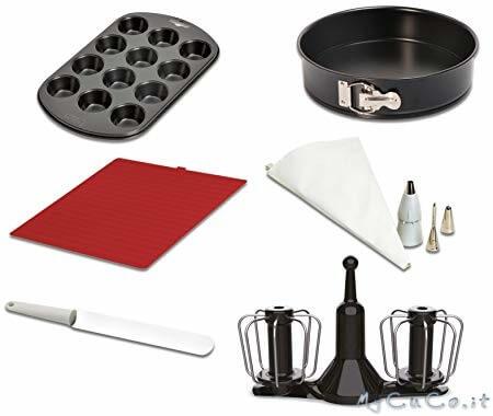 Nuovo accessorio doppia frusta e set pasticceria per Companion Moulinex XF389010