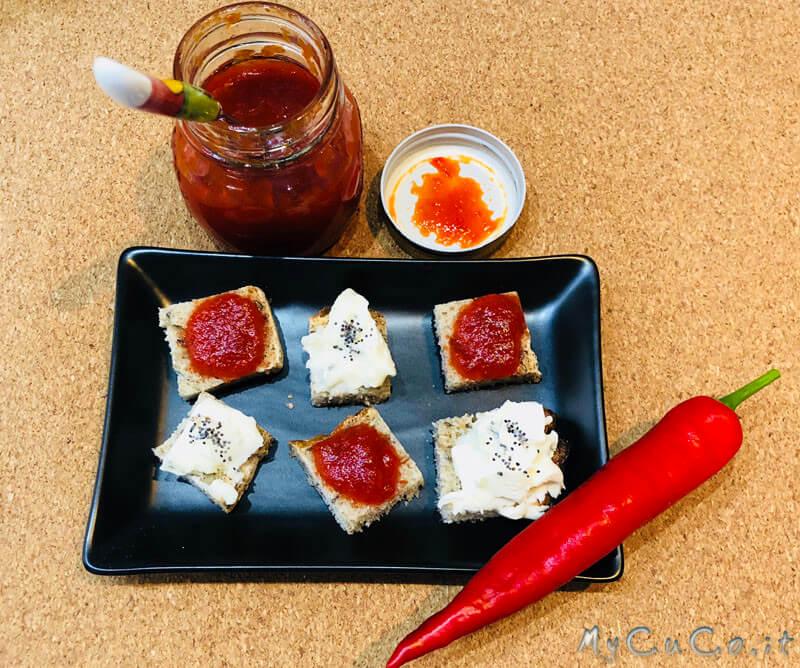 Confettura di peperoncini piccanti con Companion Moulinex