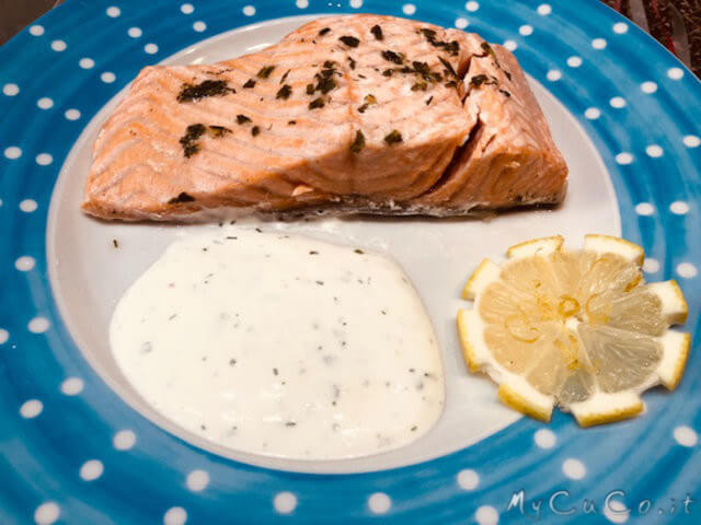 Salmone a vapore con salsa all''aneto - mycuco.it