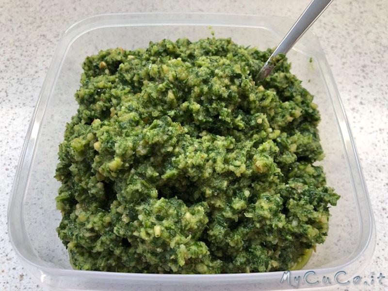 Pesto rucola e noci, con o senza aglio, fatto il Companion Moulinex
