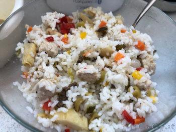 Insalata di riso con tacchino