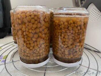 Cottura e conservazione delle lenticchie sotto vetro